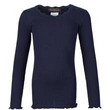 Rosemunde Silk T-shirt Regular w. Lace Navy