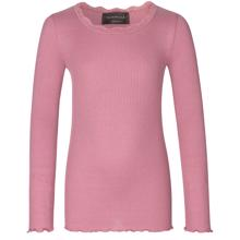 Rosemunde Silk T-shirt Regular w. Lace Mesa Rose