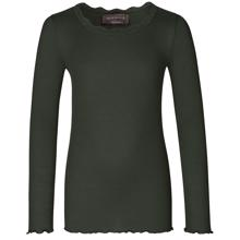 Rosemunde Silk T-shirt Regular w. Lace Black Green