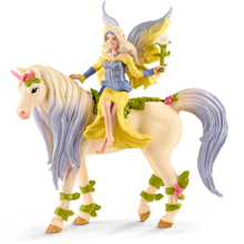 Schleich Bayaia Fairy Sera with Blossom Unicorn