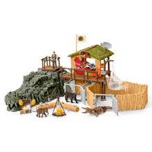 Schleich Wild Life Croco Jungle Research Station