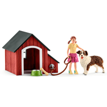 Schleich Farm World Dog Kennel