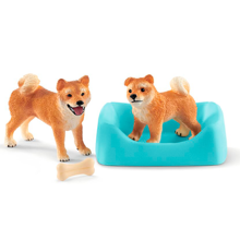 Schleich Farm World Shiba Inu Mother and Puppy