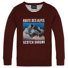 Scotch & Soda Printed Sweater Garnet