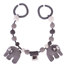 Sebra Knitted Pram Chain Elephant Grey