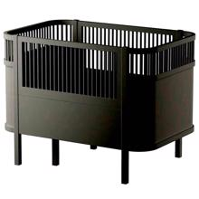 Sebra Bed Baby & Junior Black Wooden Edition