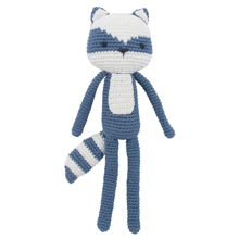 Sebra Knitted Animal Racoon Forest Lake Blue
