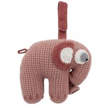 Sebra Music Mobile Knitted Elephant Blossom Pink