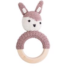 Sebra Knitted Rattle Bunny Siggy