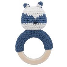 Sebra Knitted Rattle Racoon