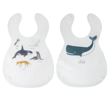 Sebra Bib Arctic Animals Set of 2