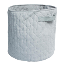 Sebra Storage Basket Quilted Grey