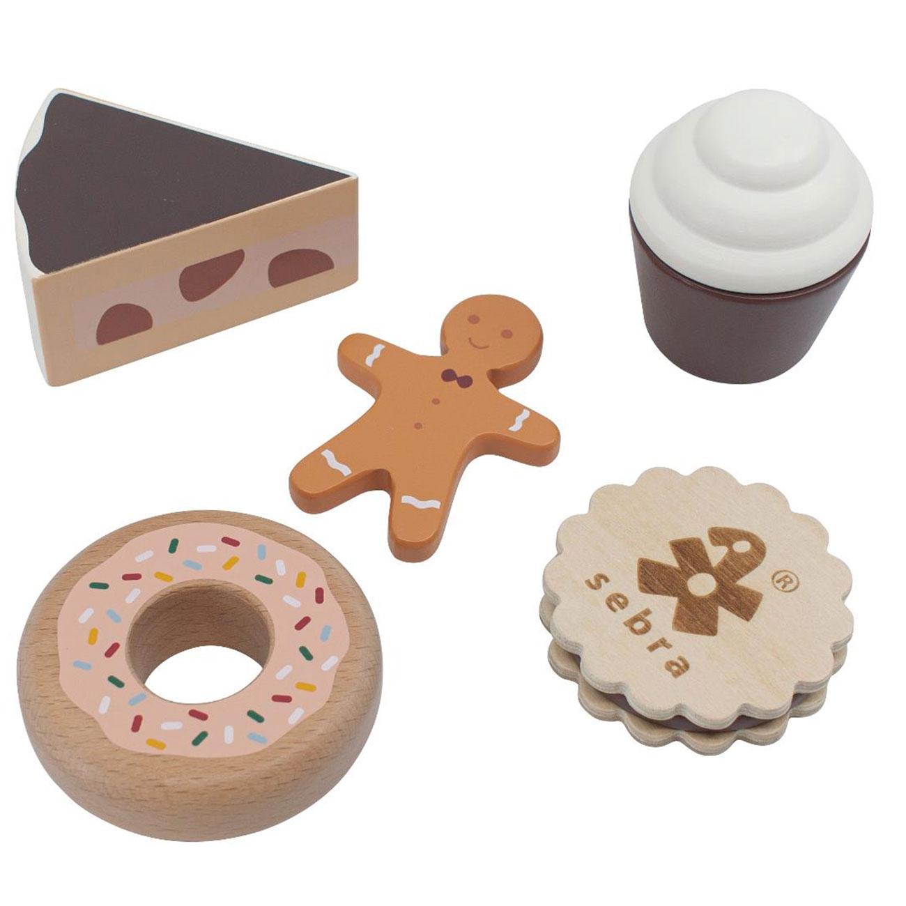 Sebra Food Wooden Cakes /& Cookies
