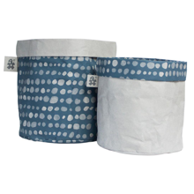 Sebra Storage Basket Paper Dots Boy