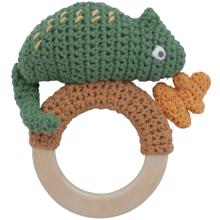 Sebra Knitted Rattle Chameleon