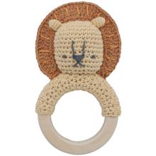 Sebra Knitted Rattle Lion