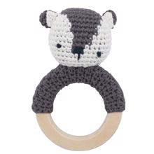 Sebra Knitted Rattle Bear