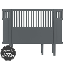 Sebra Bed Baby & Junior Dark Grey