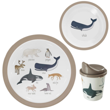Sebra Dinner Set Melamin Arctic Animals