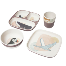 Sebra Dinner Set Bamboo Melamin Arctic Animals