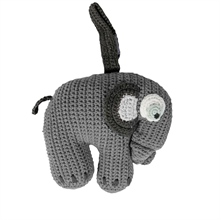 Sebra Music Mobile Knitted Elephant Grey