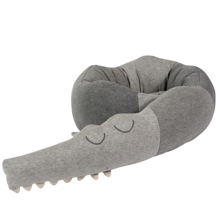 Sebra Pillow Knitted Sleeping Croc Grey