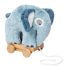 Sebra Pulling Toy Cuddly Elephant Cloud Blue