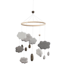 Sebra Mobile Felt Clouds Warm Grey