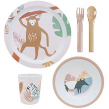 Sebra Dinner Set Melamin Wildlife Sunset Pink