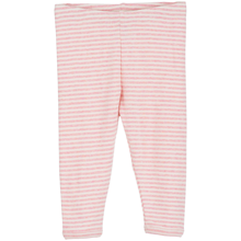 Serendipity Baby Rib Stripe Leggings Blush Rose/Offwhite