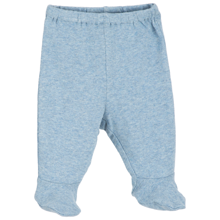 Serendipity Baby Rib Pre Pants W. Feet Lightblue Melange