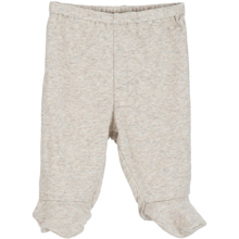 Serendipity Baby Rib Pre Pants W. Feet Wheat