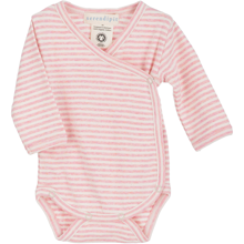 Serendipity Baby Rib Stripe Pre Wrap Body Blush Rose/Offwhite