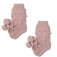 shirley-bredal-strik-knit-uld-wool-bubble-futter-footies-rosa-dusty-pink-1
