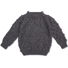 Shirley Bredal Bubble Sweater Dark Melange Grey