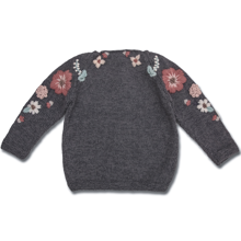 Shirley Bredal Flora Sweater Dark Melange Grey