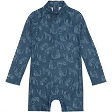 Soft Gallery Majolica Blue AOP Loeline Fitz Sunsuit