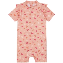 Soft Gallery Shrimp AOP Fluttery Filly Sunsuit