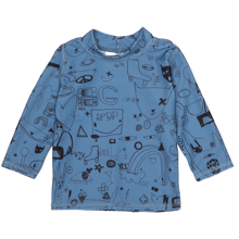 Soft Gallery Copen Blue Astin Sun Baby Swim Shirt Quirky Big AOP