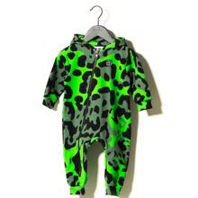 Sometime Soon Magnet Jumpsuit Bright Green AOP