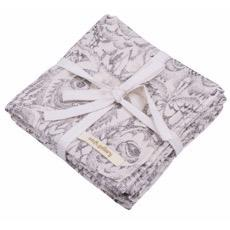 Soft Gallery Owl Muslin Cloths (creme)