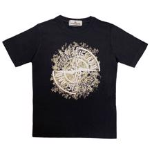 Stone Island Junior T-shirt Print Black
