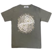 Stone Island Junior T-shirt Print Dusty Green