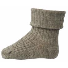 MP Wool Socks Rib Light Brown Melange