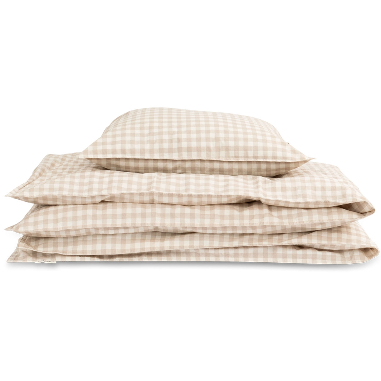 Picture of: Studio Feder Bedding Gingham Oat