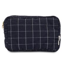 Studio Feder Toiletry Bag Navy Check