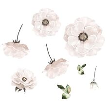 That's Mine Wall Stories Poppy Flowers White