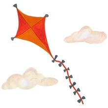 That's Mine Wall Stories Kite Large Orange