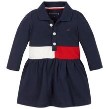 Tommy Hilfiger Baby Block Polo Dress Twilight Navy