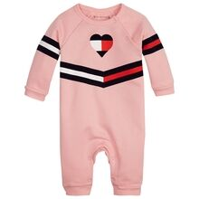 Tommy Hilfiger Baby Girl Print Coverall Pink Icing